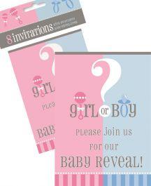 Gender Reveal Invites (Pack of 8)
