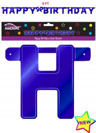 Giant Blue Birthday Letter Banner