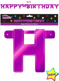 Giant Pink Birthday Letter Banner
