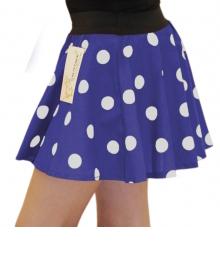 Girls Blue white Polka Dot Skirt