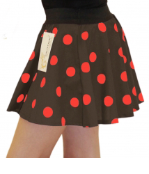 Girls Brown Red Polka Dot Skirt