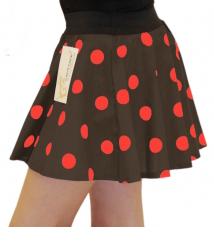 Girls Brown Red Polka Dot Skirt