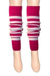 Girls Pink & White Stripe Leg Warmer
