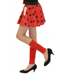 Girls Red Black Polka Dot Skirt