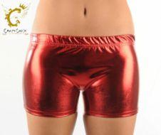 Girls Shiny Red Hot Pants
