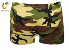 Girls Microfiber Camouflage Hot Pants