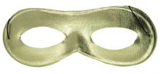 Gold Domino Shape Cloth Eye Mask(Pack of 12)