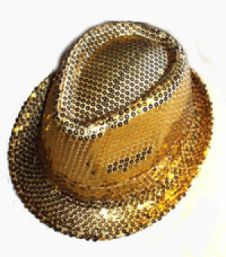 Gold Sequin Gangster Hat