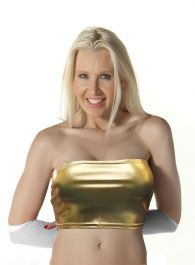 Gold Shiny Boob Tube