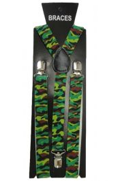 Green Camouflage Printed Braces (2.5 cm)