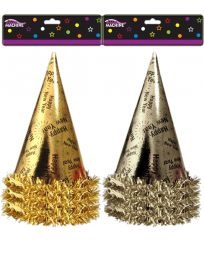 H.N.Y. 3 Foil Tinsel Hats