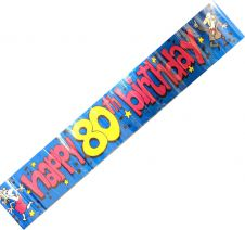 Happy 80th Birthday Party Banner 2.6 m