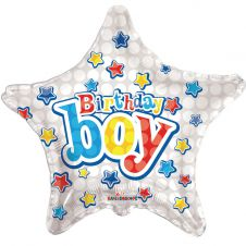 Happy Birthday Birthday Boy Star Balloon 18 Inches