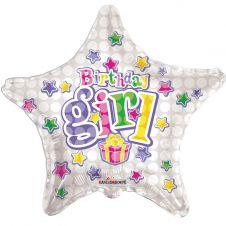 Happy Birthday Birthday Girl Star Balloon 18 Inches