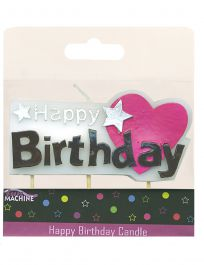 Happy Birthday Candle Pick Heart