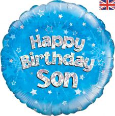 Happy Birthday Son Holographic (18 Inches)