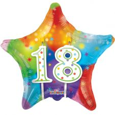 Happy Birthday Star 18th Candles Balloon (18 Inches)