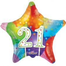 Happy Birthday Star 21st Candles Balloon (18 Inches)