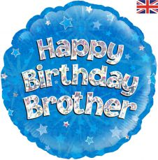 Happy Birthday Brother Holographic (18 Inches)