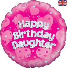 Happy Birthday Daughter Holographic (18 Inches)