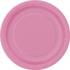 Hot Pink 9 Inches Plates (Pack of 16)
