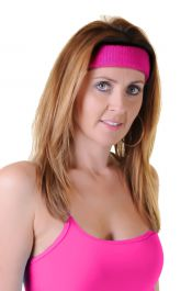 Hot Pink Toweling Head Band (12 Pcs)