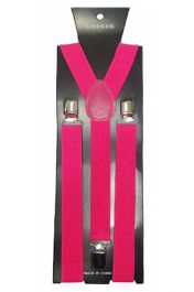 Hot Pink Plain Braces 2.5 cm