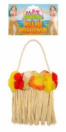 Hula Bag With Flowers (13 X 15cm)