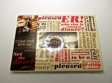 Invitation Card Set Pack of 8 Come Dine With Me