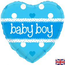 Its A Boy Pastel Heart Holographic (18 Inches)