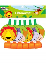 Jungle Party Disk Blowers (Pack of 6)