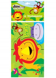 Jungle Party Invites (Pack of 12)