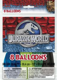 Jurassic World 12 Inches Balloons (Pack of 8)