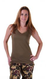 Ladies Green Camouflage Vest