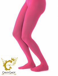 Ladies Plain Fuchsia Tights