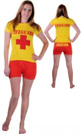 Wicked Fun Life Guard Women Costume