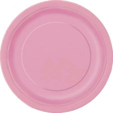 Lovely Pink 9 Inches Plates (Pack of 16)