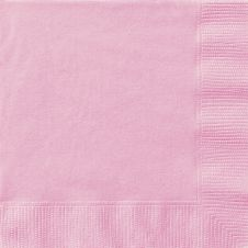 Lovely Pink Lunch Napkins (Pack of 20)