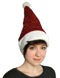 Lurex Santa Hat Red