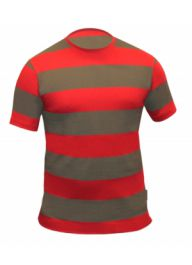 Men Red & Green Stripe T-Shirt