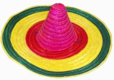 Mexican Coloured Hat Straw