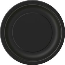 Midnight Black 9 Inches Plain Plates (Pack of 16)