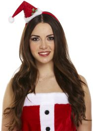 Mini Santa Headband Hat