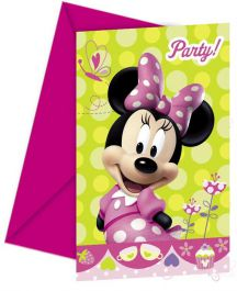 Minnie Bow-Tique Invites & Envelop (Pack of 6)