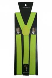 Neon Yellow Plain Braces 2.5 cm