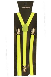 Neon Yellow Plain Braces 1.5 cm