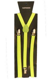 Neon Yellow Plain Braces 1.5 cm
