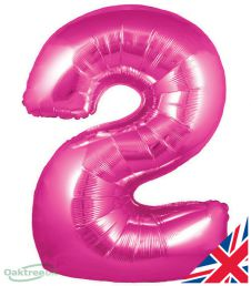 Number 2 Pink Balloon (30 Inches)