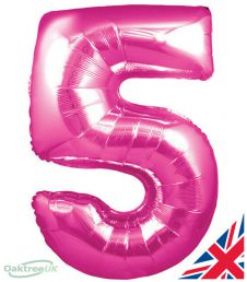 Number 5 Pink Balloon (30 Inches)