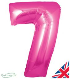 Number 7 Pink Balloon (30 Inches)